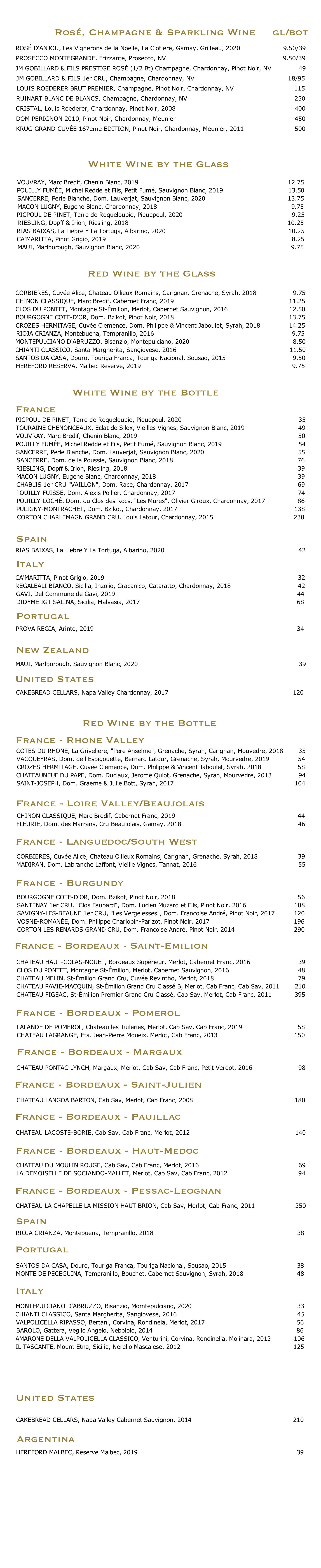 new wine list test